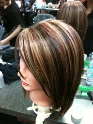 brown with blonde and red