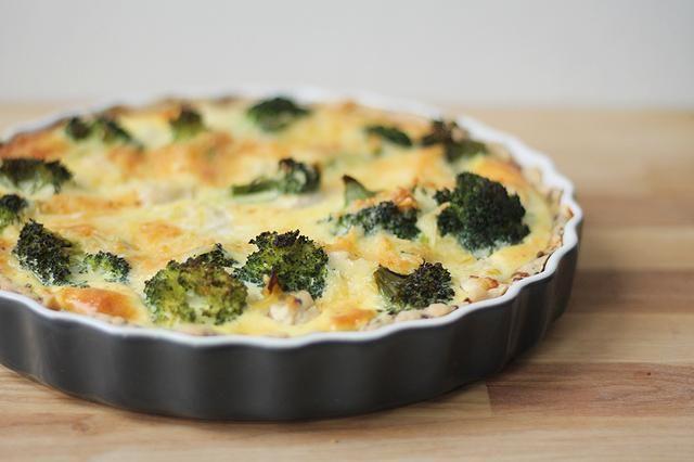 broccolipaj med kyckling