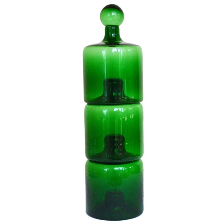 Handblown Stacking Decanters by Timo Sarpaneva   From a unique collection of antique and modern glass at https://www.1stdibs.com/furniture/dining-entertaining/glass/