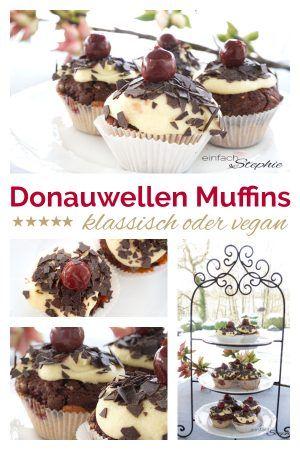 Donauwellen Muffins vegan oder klassisch