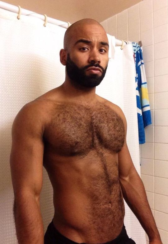 Hairy naked black men