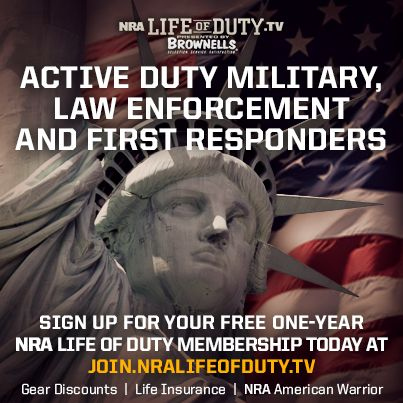 Free NRA Life of Duty Memberships