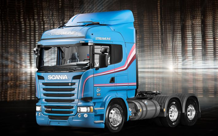 Download wallpapers Scania R440 Streamline, trucks, cargo transport, tractor, 6x2, Scania
