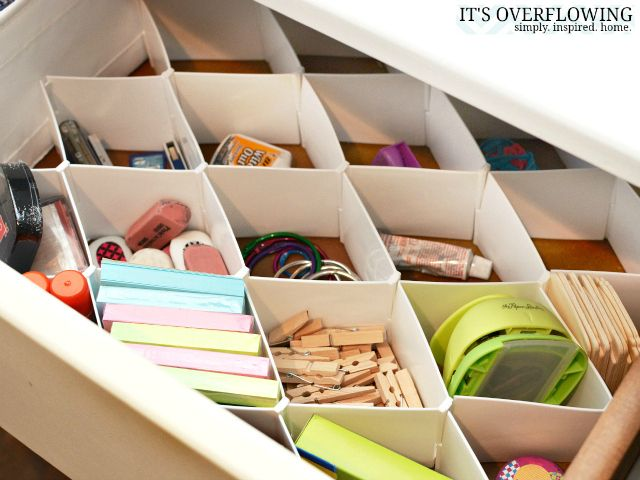 Sock organizers as office drawer organizer | Other Desk-Organization Ideas @Amber Johnson Overflowing