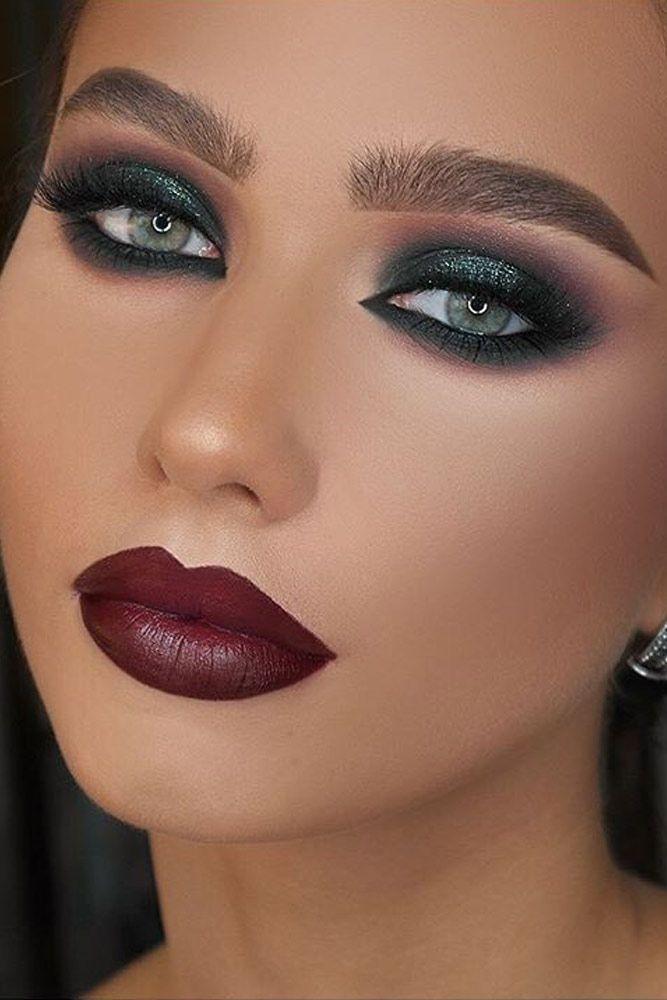 Elegant Smokey Eye Makeup picture 2 #smokeyeyepinklips #pinklipsmakeup