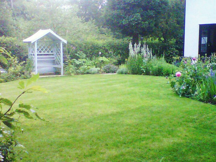 Woburn Sands new lawn area, after completion