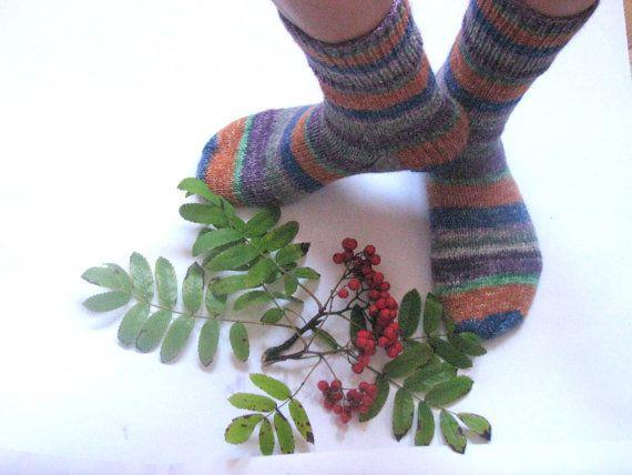 hand knitted women and men wool socks Wonderful by Spillija