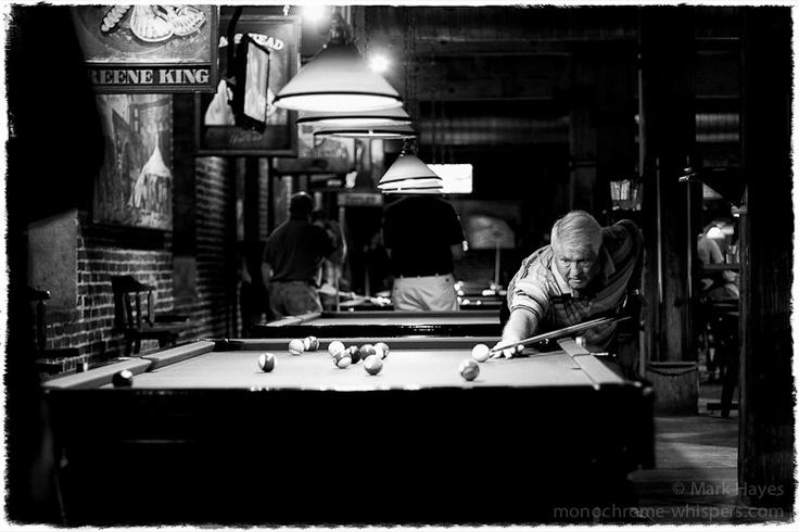 Black and white pool hall Monochromes Pinterest