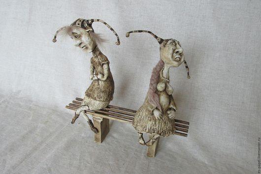 Коллекционные куклы ручной работы. Ярмарка Мастеров - ручная работа. Купить Поссорились. Handmade. Сказочный персонаж, бумажная глина