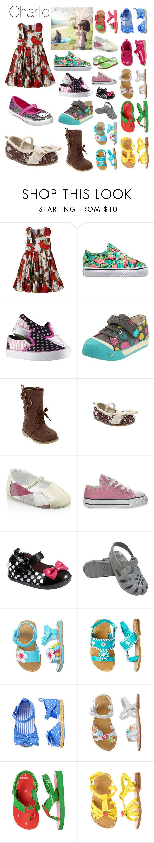"""""""Untitled #3683"""" by llamapoop ❤ liked on Polyvore featuring Dolce&Gabbana, Vans, Keen Footwear, Hello Kitty, Old Navy, Gymboree, Burberry, Converse and Disney"""