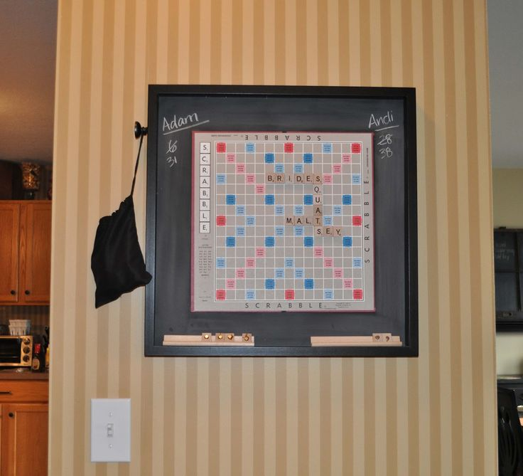 House of Payne: Hanging magnetic Scrabble board.