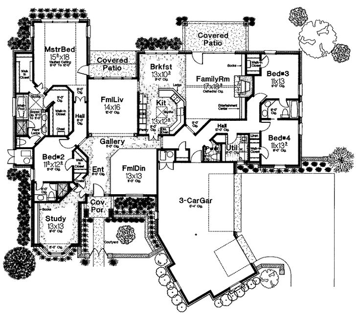 Best Love This House Plan Images On Pinterest House Floor