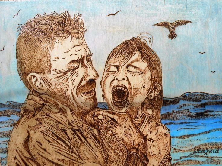 Δεν θα μπορούσε κανείς στην Ελλάδα να μην επηρεαστεί από το δράμα των προσφύγων - μεταναστών....!!!!!! το έργο μου αυτό έχει τίτλο ..... Αγωνιά για την σωτηρία των παιδιών!!!! πυρογραφία και ακριλικά χρωματα.... 30x22cm No one could in Greece is not affected by the drama of the refugees - immigrants .... !!!!!! 30x22cm my project is heading ..... Anguish for the salvation of children !!!! PYROGRAPHY and acrylic paints ....