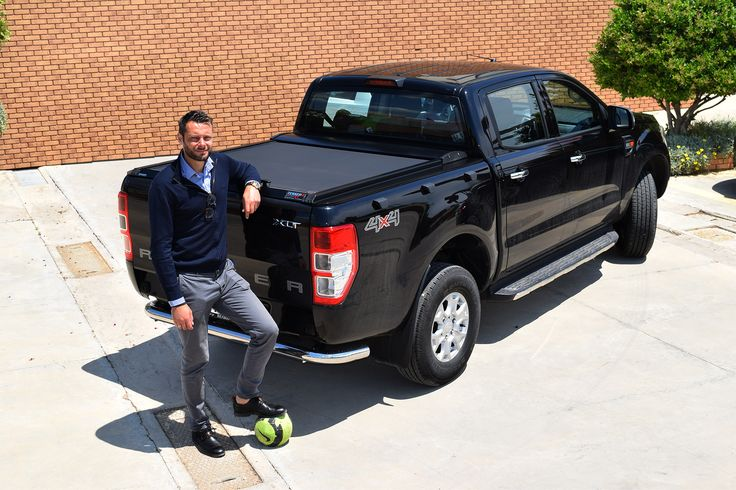 #AlexandrosTzorvas #top #Greek #football #player #choice is the #premium #aluminum #roller #lid #shutter #sotroll #series by #Tessera4x4 #accessories for his own #Ford #Ranger #T6 #XLT #model #painted in #blackmatt #version. #sport #look & #sporty #attitude. Only at https://www.accessories-4x4.com/