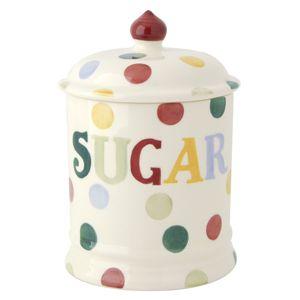 """Polka Dot"" Polka Dot Text Sugar Storage Jar at Emma Bridgewater https://www.emmabridgewater.co.uk/invt/1pod070122"
