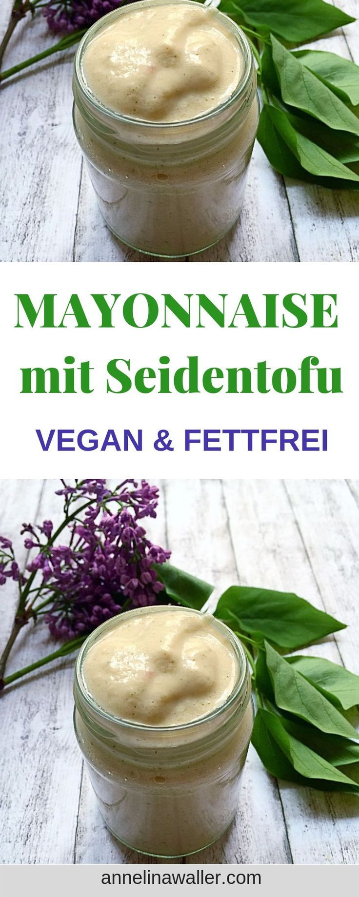 Leichte, Fettfreie Mayonnaise mit Seidentofu, vegan, dips, saucen