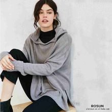 wholesale women mock neck knit pattern hooded sweatshirt  Best Buy follow this link http://shopingayo.space