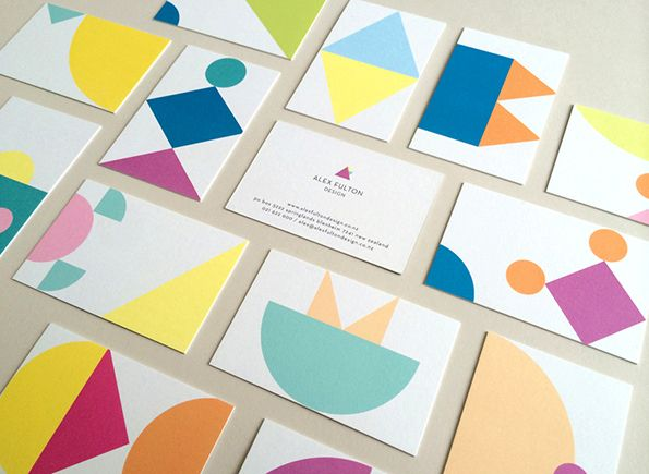 Geometric identity. It's Nice That : Graphic Design: Hardhat design a colourful identity for an interior stylist.