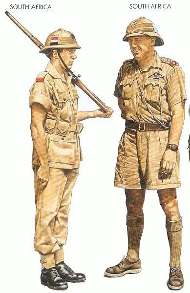 South Africa Infantry WW2 uniforms - North Africa