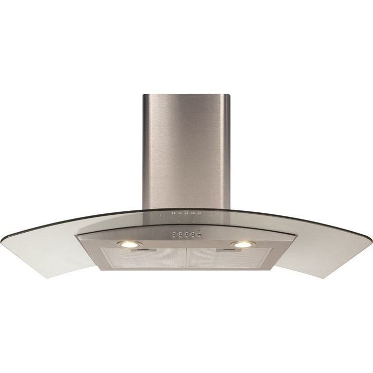 CDA ECP92SS Stainless Steel 90cm Curved Glass Extractor Cooker Hood £199