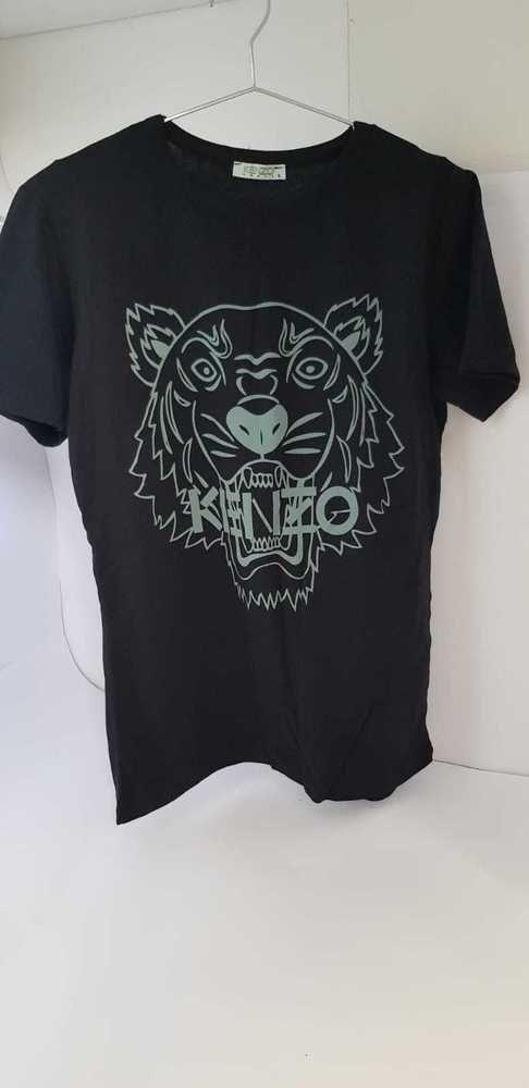 5df8dbb9e Black T-shirt Top Men Fashion Summer Solid Short Sleeve Lion Tshirts   TopTshirts  Lion