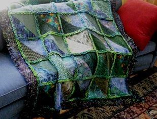 Free Triangle Rag Quilt Pattern