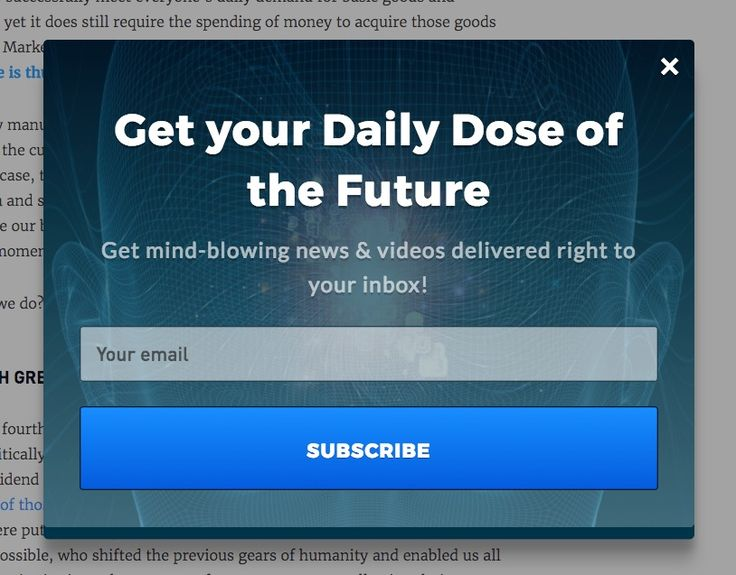 Opt-in Example - Get your Daily Dose of the Future