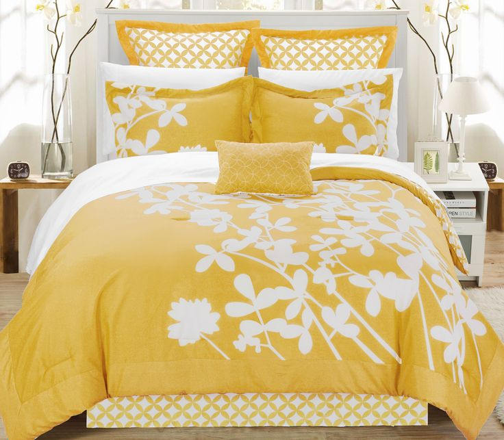 yellow queen sheet set