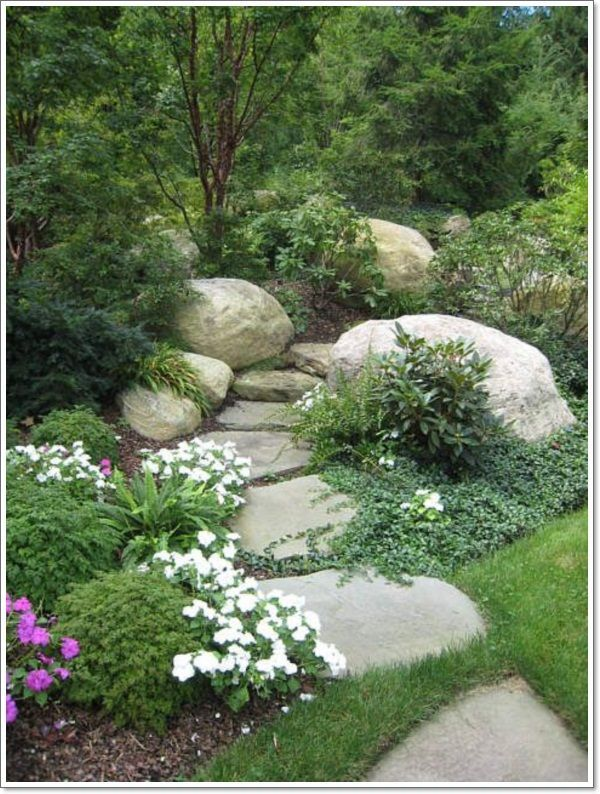 rock garden - would be great if any of your connections could procure FREE rocks. A pile of them surrounded by some ground cover and maybe grasses or shrubs would break up the vast expanses of lawn and be a germ to infect the rest of the boring parts with more interesting plant matter