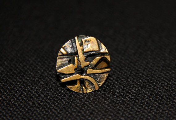 Vintage bronze Jorma Laine Kala ring. Made in Finland by Piippana