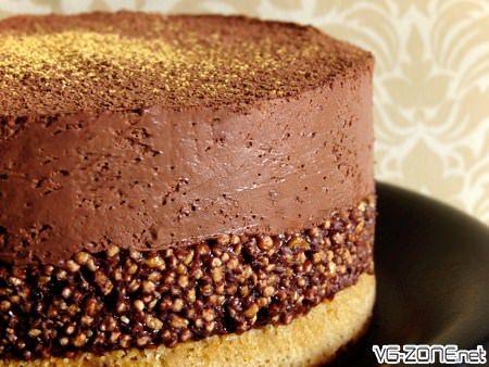 Le Marie-Antoinette, gâteau vegan au praliné et chocolat