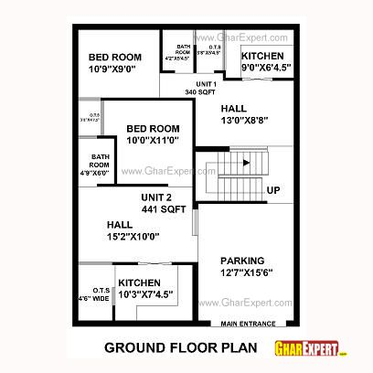 58 best house plan images on pinterest house floor plans for 40 x 40 apartment plans