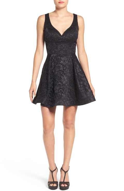 Bee Darlin' Lace & Foil Skater Dress