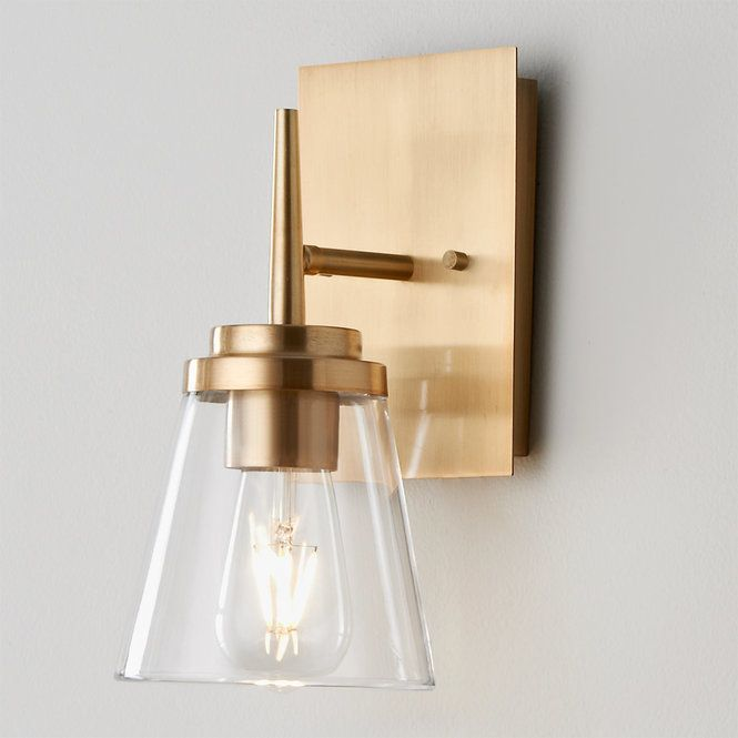 Tapered Spike Bath Sconce Sconces Contemporary Wall Sconces Bathroom Wall Sconces