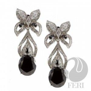 FERI 950 Siledium Silver Earrings After Midnight Earrings with palladium plating