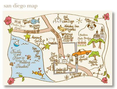 Hand Drawn Maps for Wedding Guests: Tell Your Guests Where to Go with a Custom Map