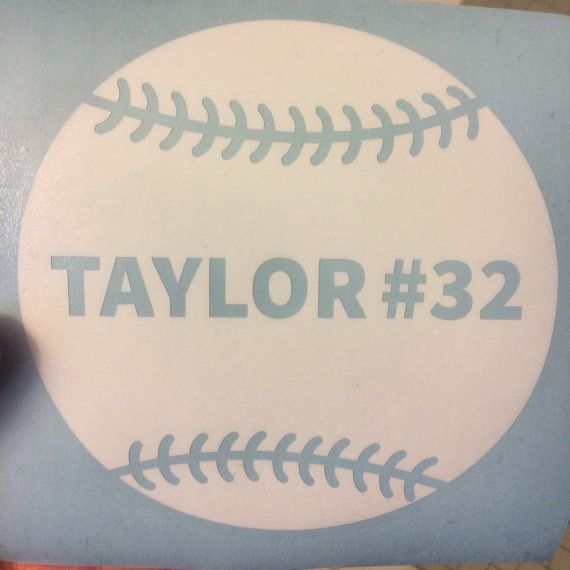 Softball Decal, Baseball Decal, Sports Decal, Car Decal, Softball Team Decal, High School Sports,Laptop Sticker, Laptop Decal, Vinyl Decal, Sports Team, Baseball Decal, Baseball, Baseball Player, Baseball Mom, Baseball Dad by DesignsByTenisha