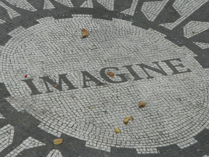 The Imagine mosaic at Central Park's Strawberry Fields, a tribute to John Lennon