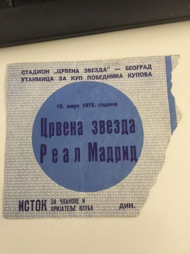 Red star #belgrade v real #madrid uefa cup ticket #19/3/1975,  View more on the LINK: http://www.zeppy.io/product/gb/2/381937738632/