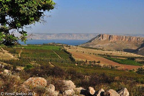 Nord-est del Mare di Galilea e Monte Arbel.