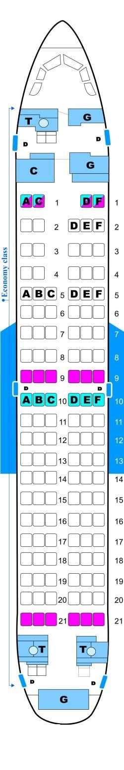 Seat Map Malev Hungarian Airlines Boeing B737 700NG