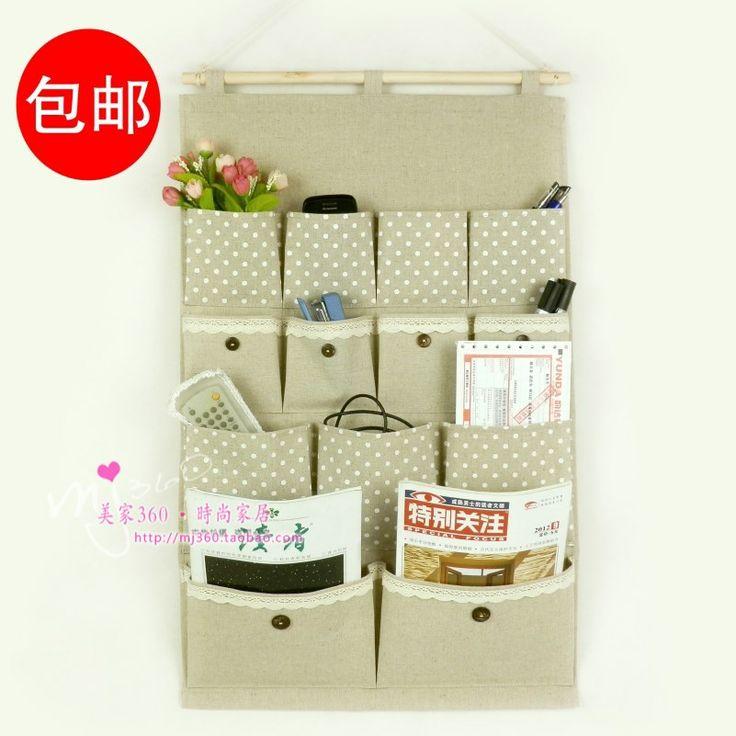 Japanese style Large zakka fluid fabric storage bag walls top cupboard bag multi-layer storage bag US $13.45
