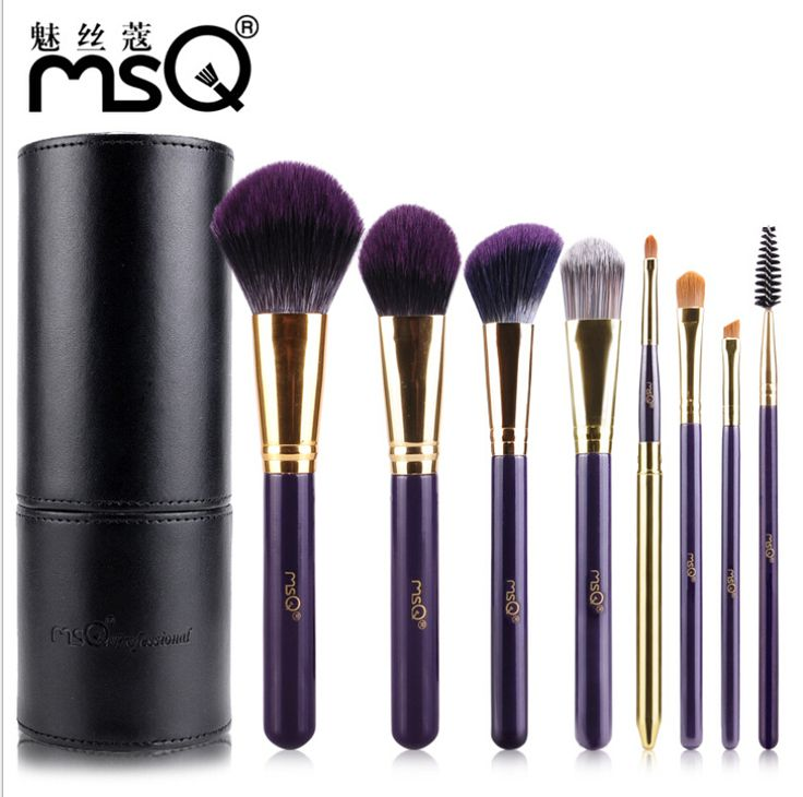 MSQ 8pcs Pro Makeup Nail Brush Set Monkey Year Collection Foundation Powder Lip Soft Synthetic Hair Cosmetic Brushes With Case #Affiliate