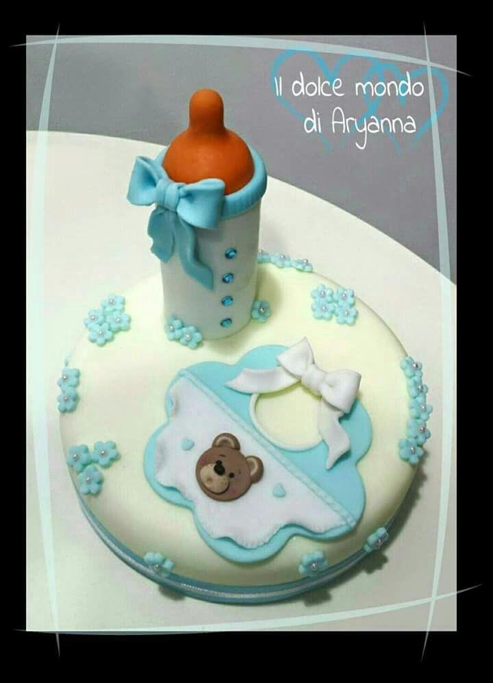 Cake topper Battesimo