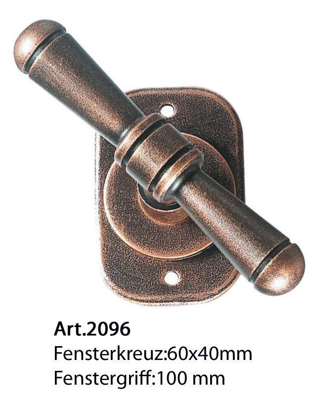 Art.2096. Klassische Eisen Fensterkreuz von Galbusera. Classic Wrought iron T window handle.