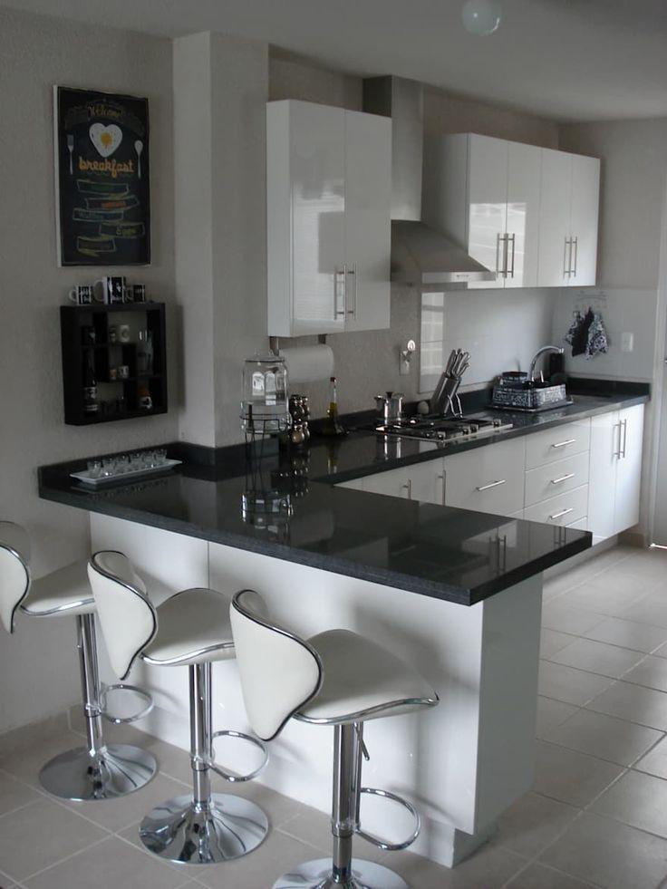 Kitchen Room Design, Kitchen Cabinet Design, Modern Kitchen Design, Kitchen Layout, Home Decor Kitchen, Interior Design Kitchen, Modern Kitchens, Small Kitchens, Kitchen Ideas