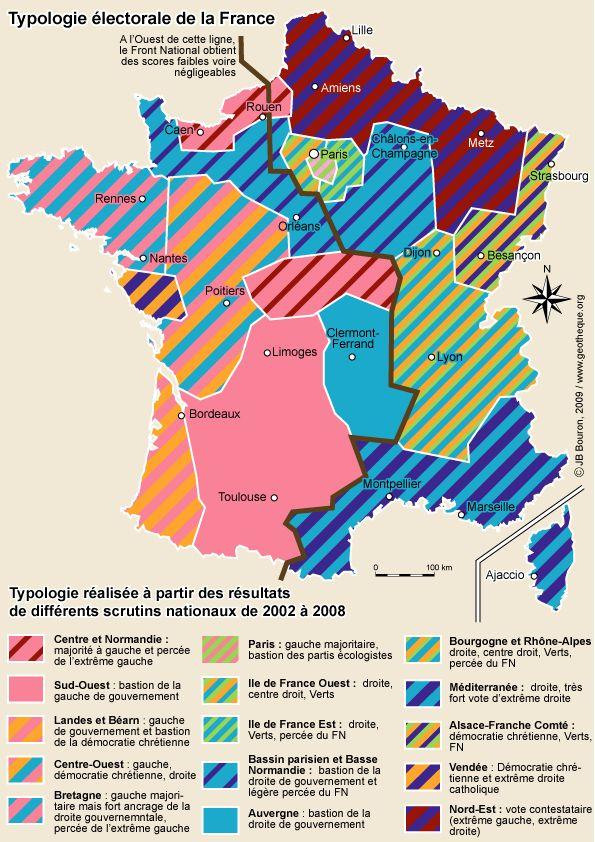France : carte électorale 2002-2008 | La Géothèque