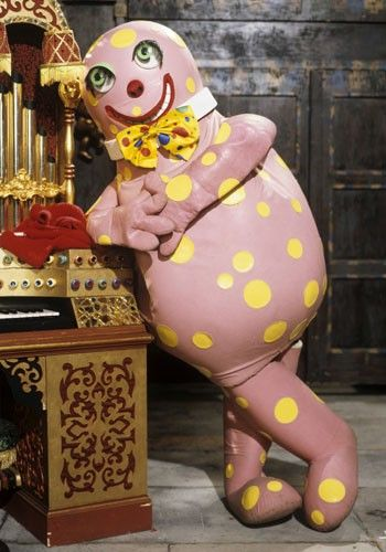 I forget why I loved Mr Blobby. He really is quite scary looking.