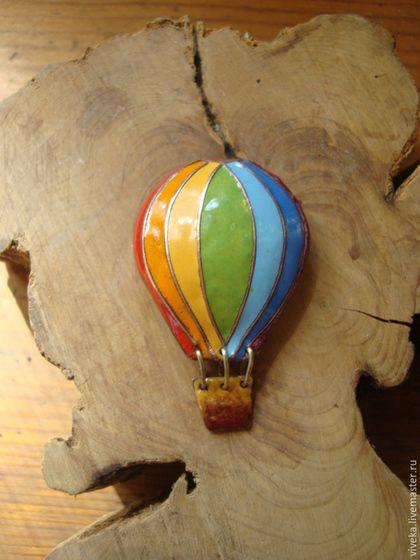 """Броши ручной работы. Ярмарка Мастеров - ручная работа. Купить Брошь с горячей эмалью """" Воздушный шар"""". Handmade. Шар"""