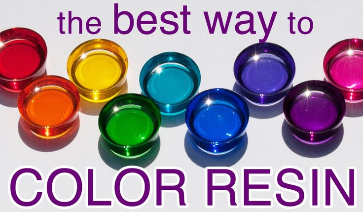 RESIN COLOR that's clean and easy - by Little Windows